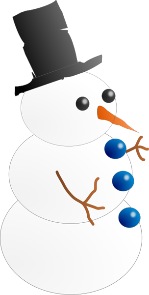 Snowman clipart free winter and christmas graphics