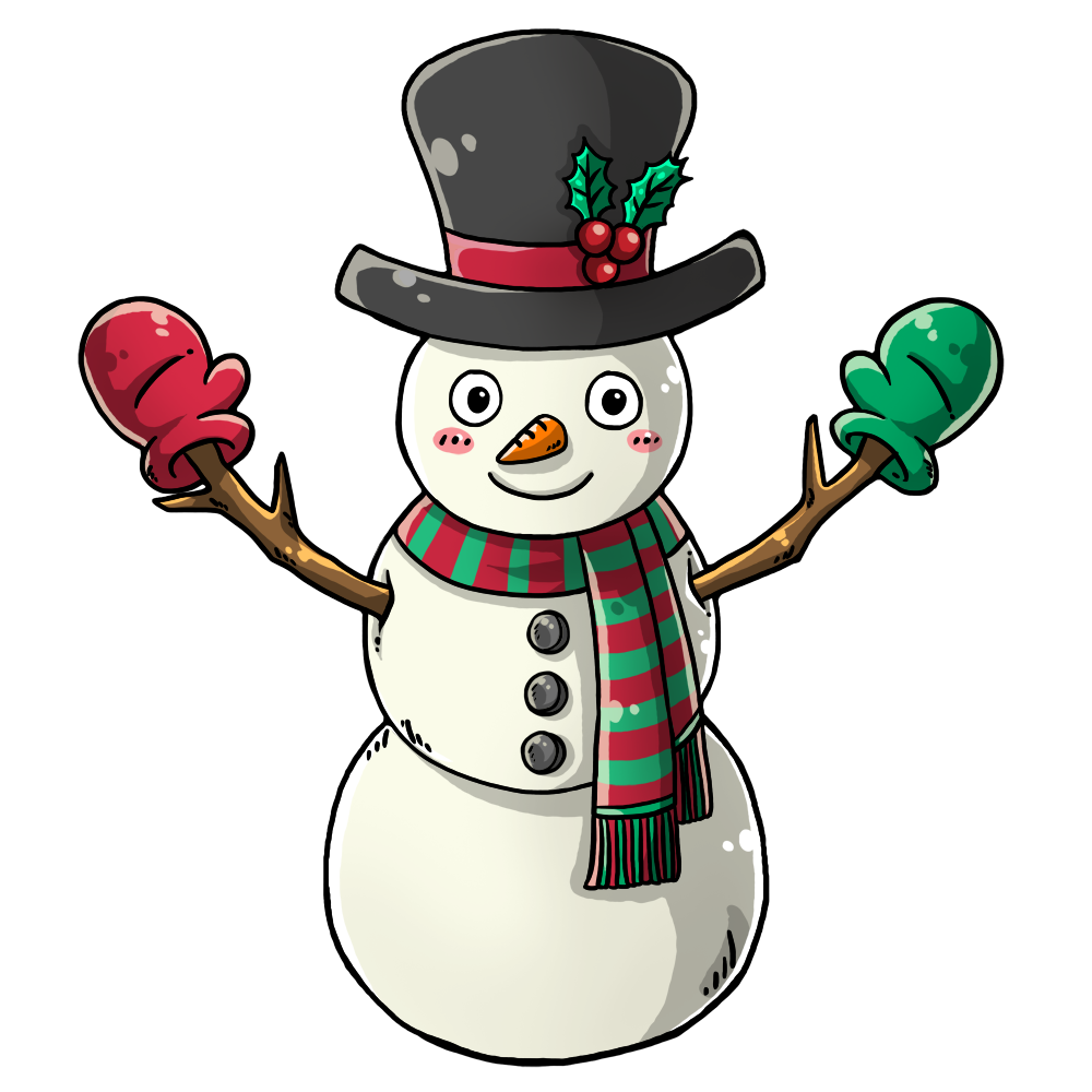 Snowman free to use clip art 4