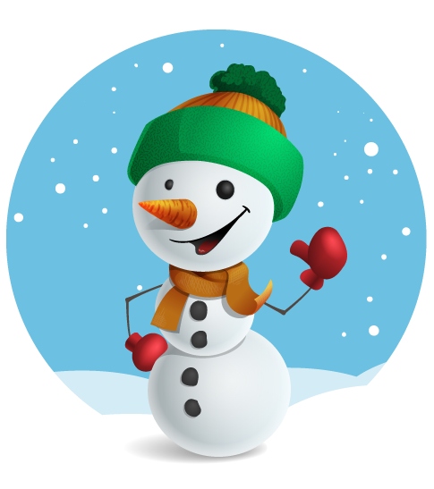 Snowman free to use clipart 2