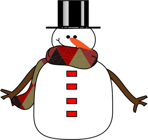Snowman free to use clipart 4
