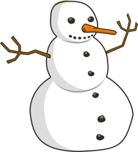 Snowman snow man clipart