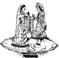 Wedding symbols hindu clipart indian