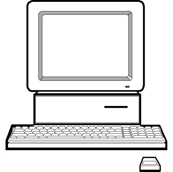 Computer clipart black and white free images 2