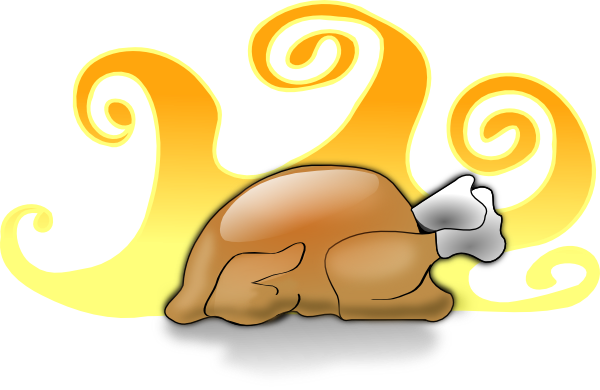 Cooked turkey clipart 2