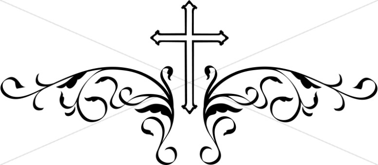 Decorative black cross clipart