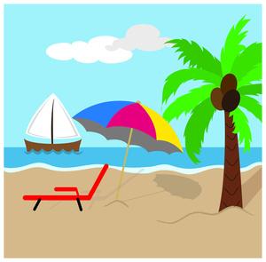 Vector beach clipart