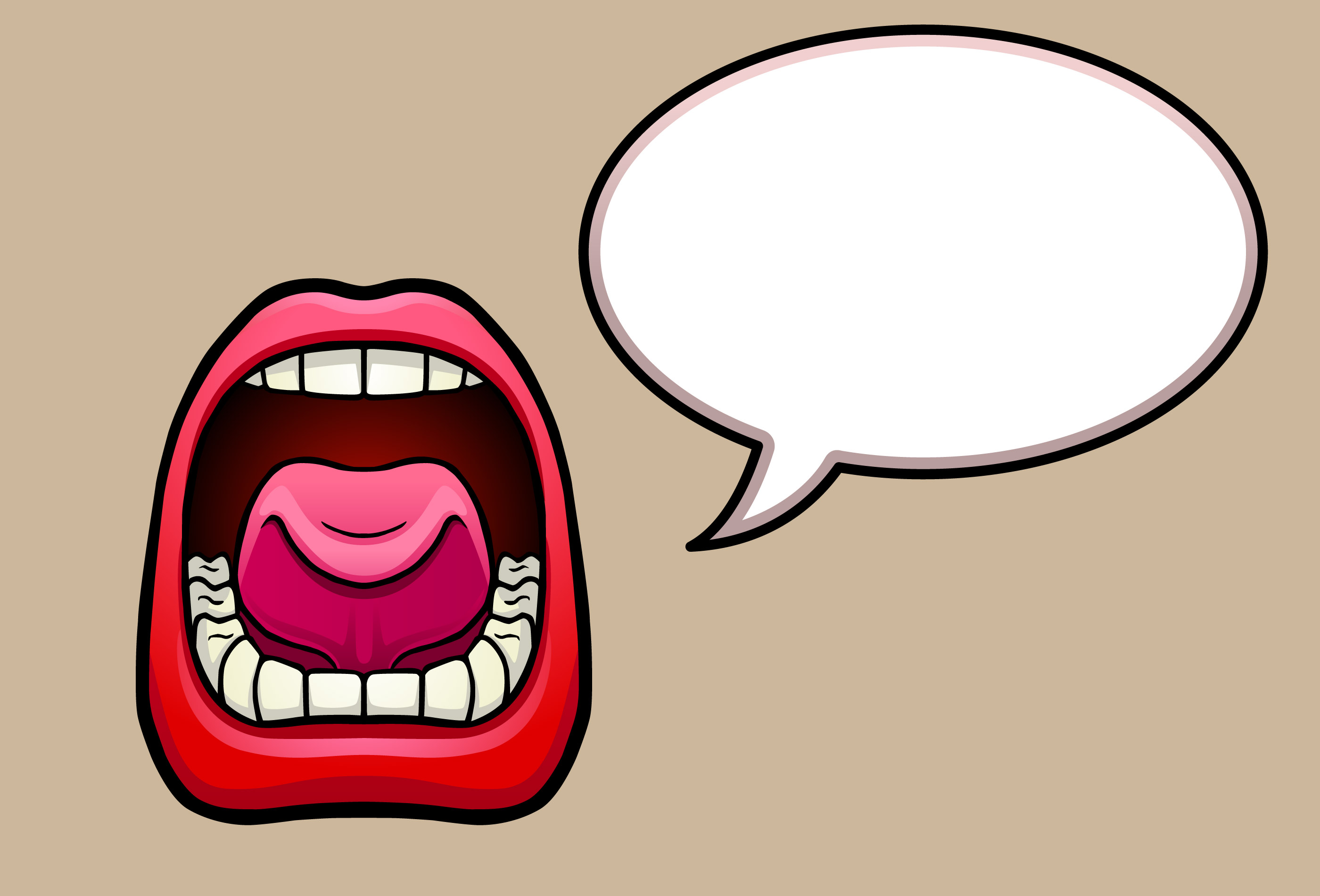 Clipart speaking mouth collection