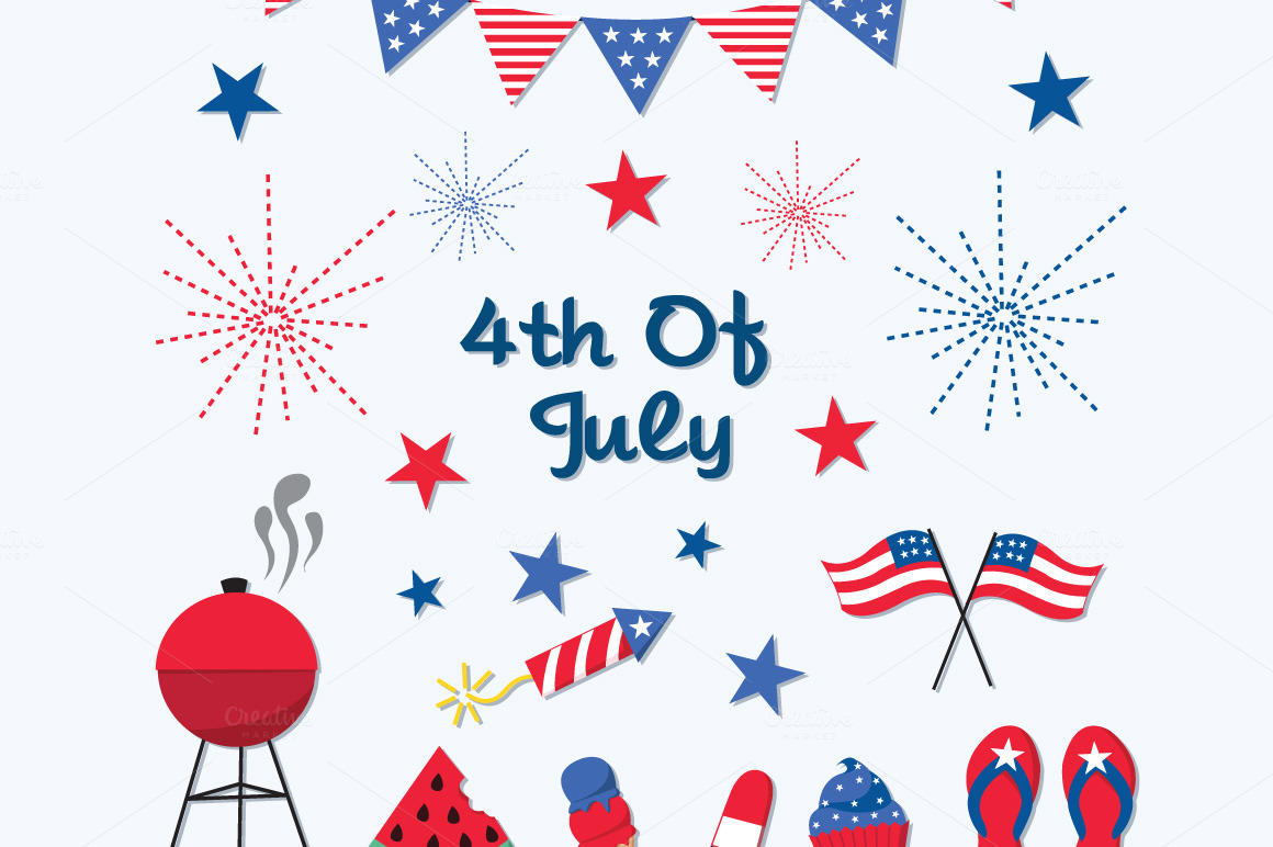 Fourth of july 4th of july clipart 10