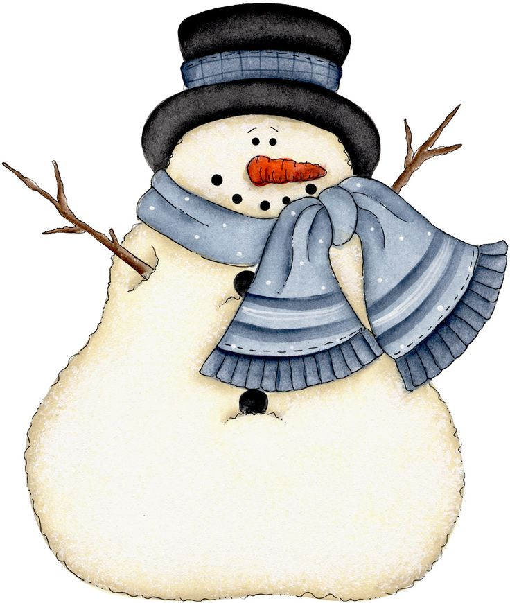 January 6 snowmen images on clip art