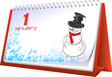 January holiday and events clip art 2