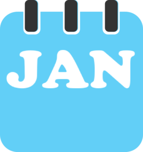 January teal clip art at vector clip art