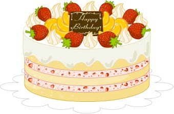 Birthday cake art birthday clipart 4 cakes