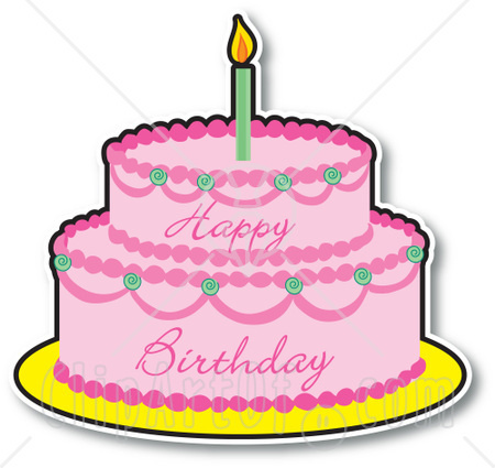 Birthday cake clipart 5