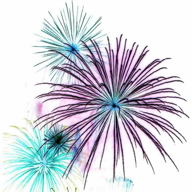 Firework month of july images on hello july clipart