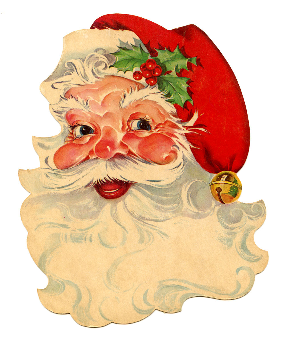 Free vintage clip art santa the graphics fairy