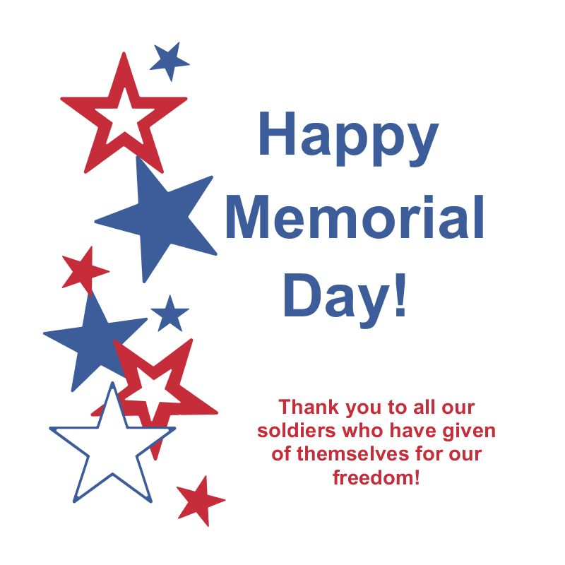 Memorial day united states of america flag clipart