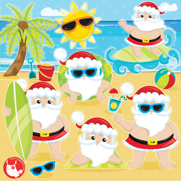 Off sale santa clipartmercial use summer clipart