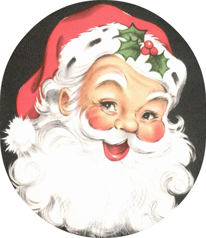 Santa free clip art from vintage holiday crafts blog archive