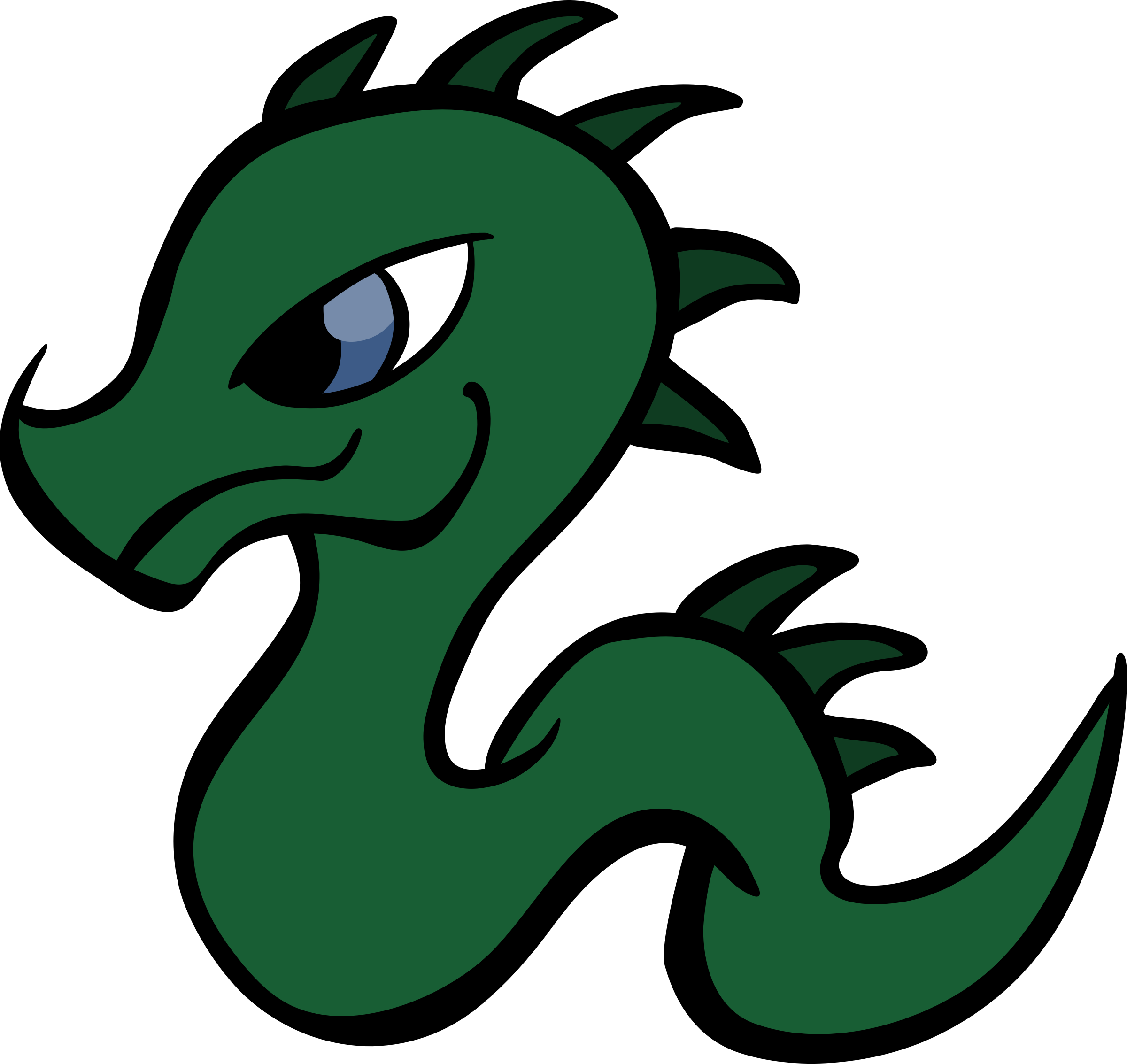 Baby dragon vector clipart free cc0