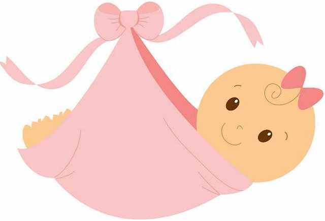 Baby girl in tea cup clip art baby clipart 2 clipartandscrap