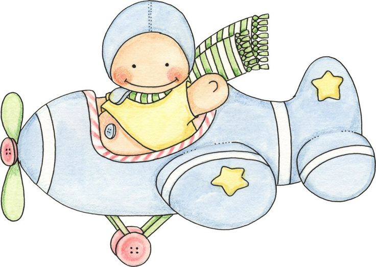 Baby images on baby cards and drawings cliparts