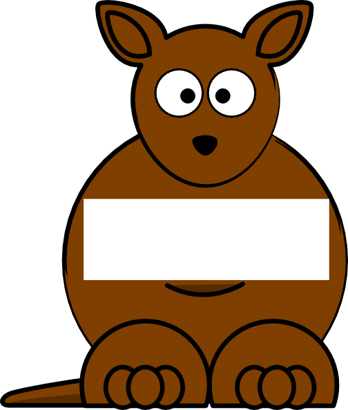 Brown sightword kangaroo clip art at vector clip art