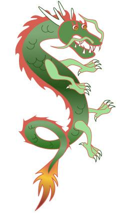 Chinese dragon clip art
