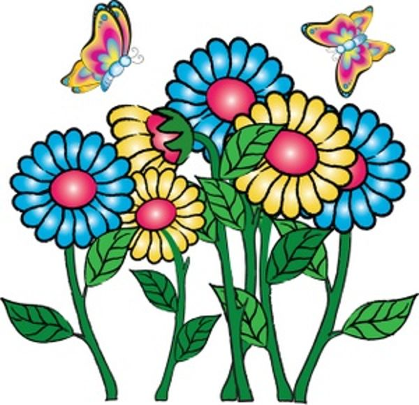 Flowers butterflies may clipart clipartfest 3 clipartbarn