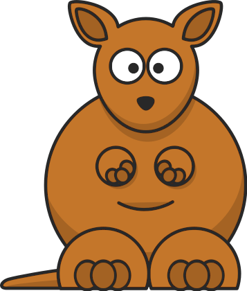 Free kangaroo clipart picture 5 of 9