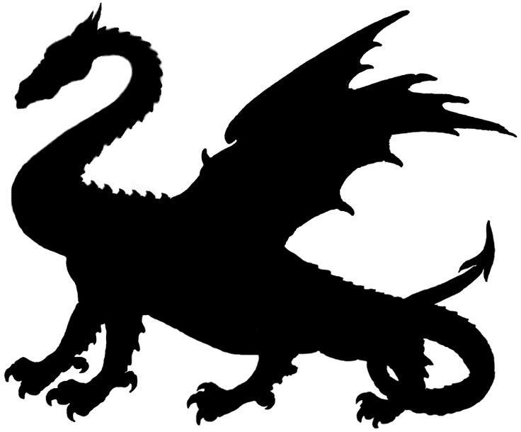 Game of thrones dragon silhouette free download clip art