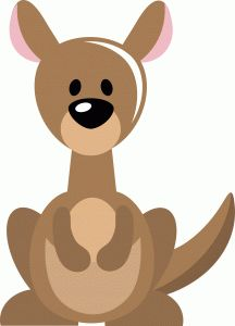 Kangaroo clipart simple pencil and in color kangaroo