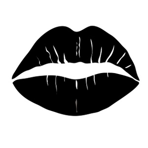 Kiss lips black and white clipart clipartbarn