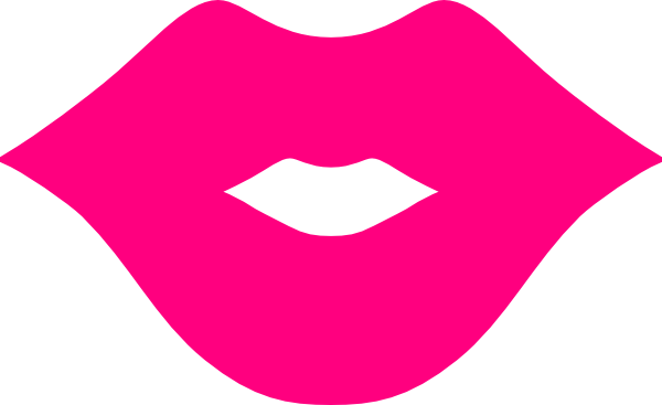 Pink lips clip art at vector clip art