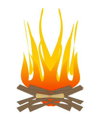 Campfire clipart bonfire pencil and in color campfire