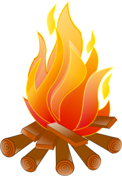 Campfire no shadow clip art at vector clip art