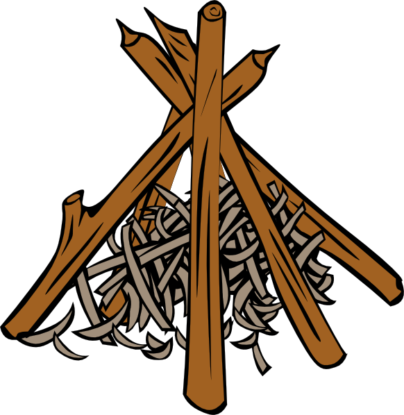 Campfires and cooking cranes clip art at vector