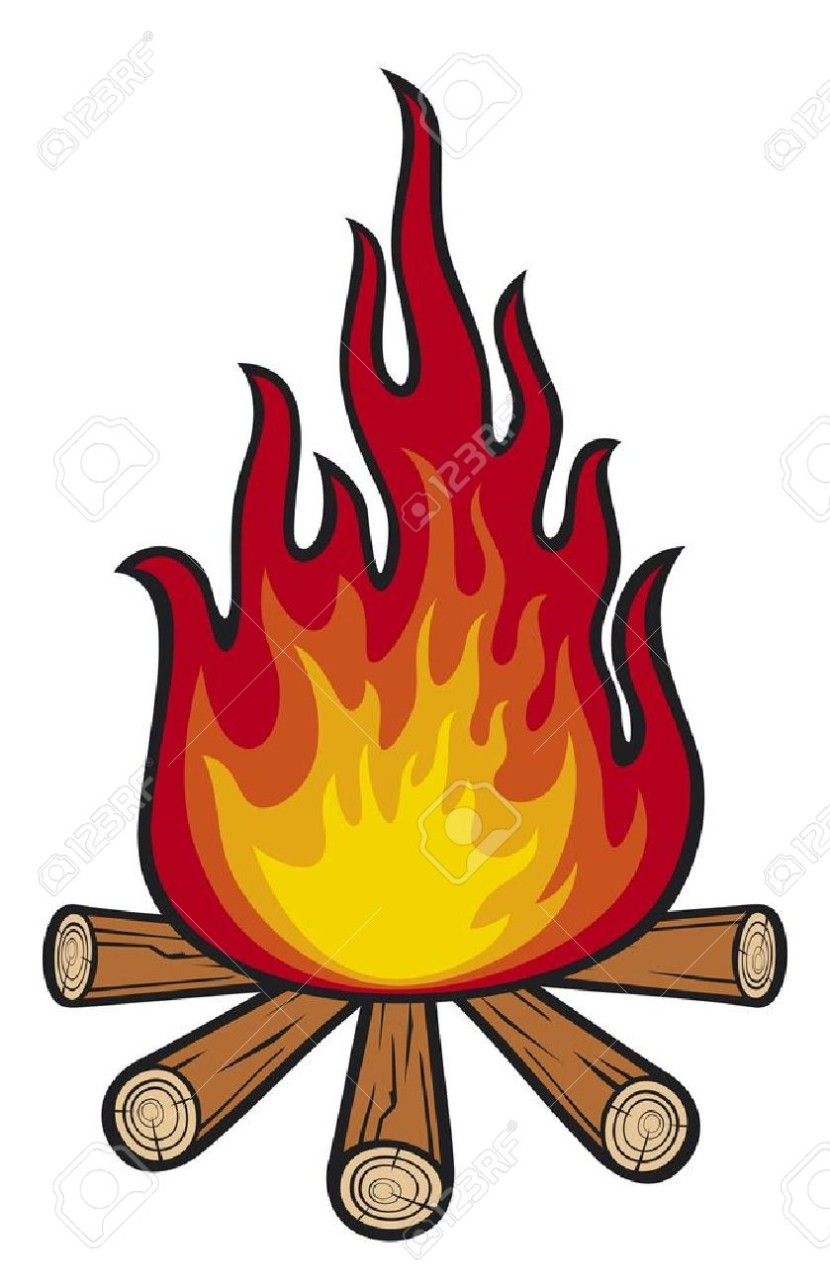 Cartoon campfire clip art