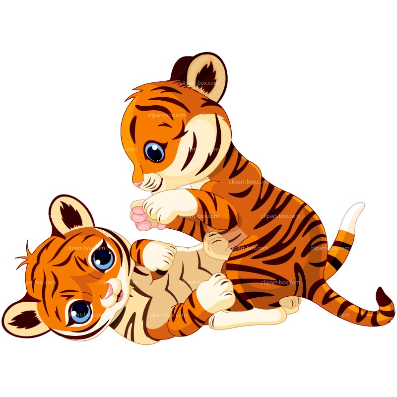Baby tiger cartoon tigers clip art image wikiclipart