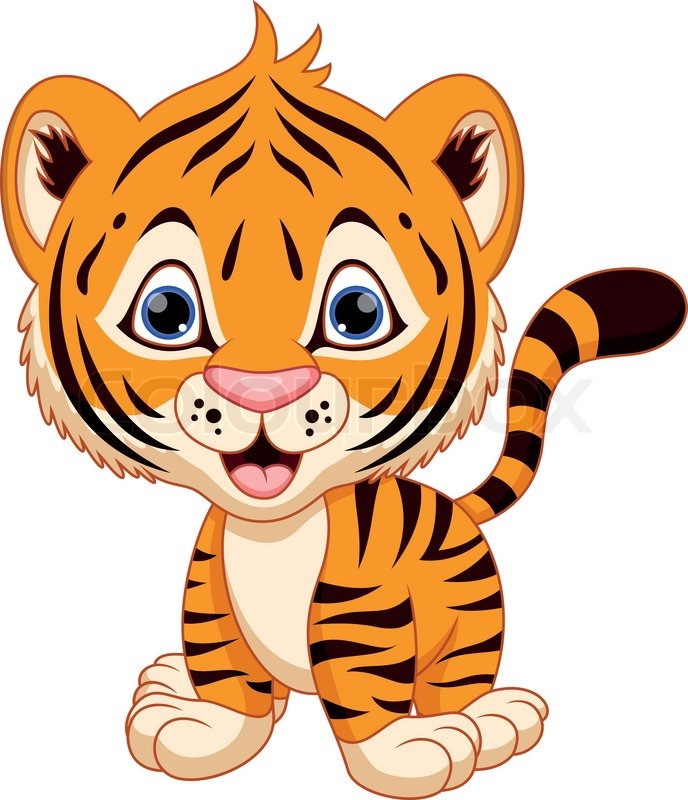 Cute tiger clipart the cliparts