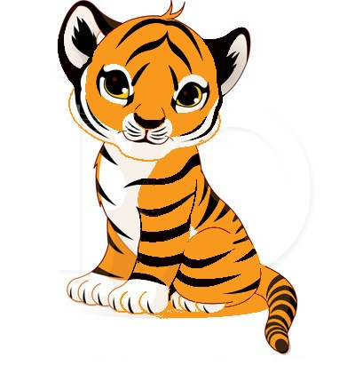 Met a tiger on my way free clipart images