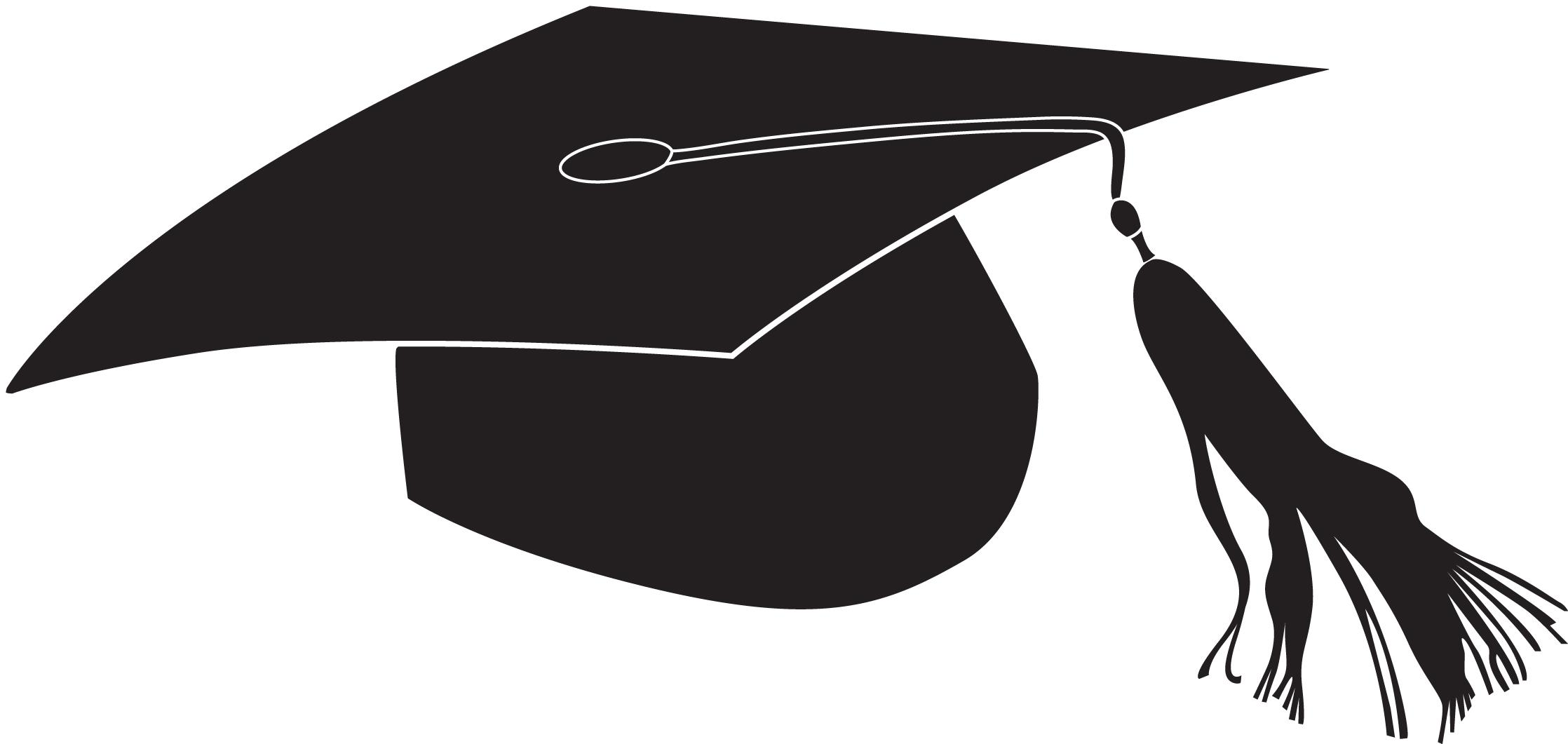 Top graduation hat flying caps clip art cap line images