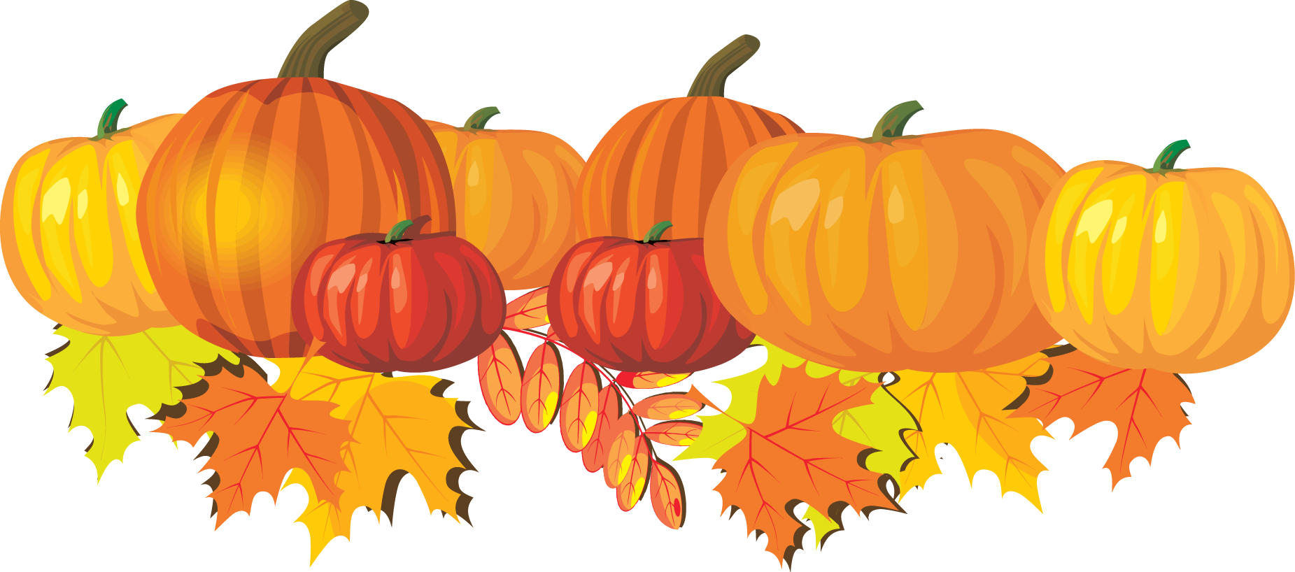 Fall clipart november pencil and in color fall