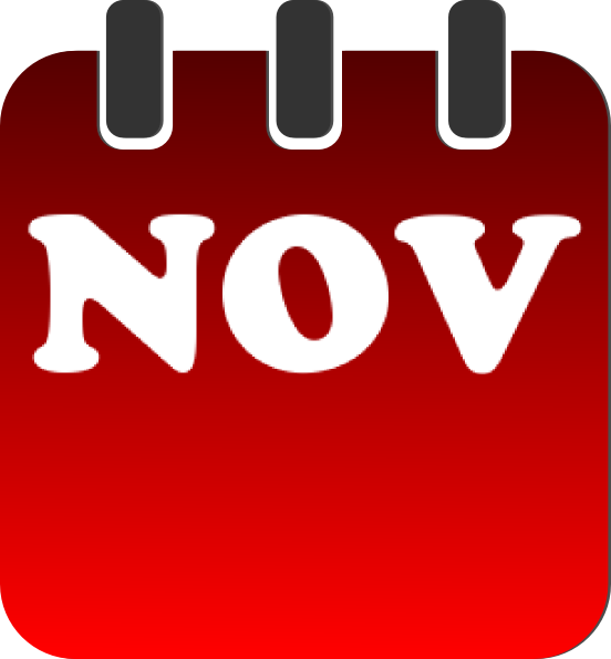 November calendar clip art at vector clip art