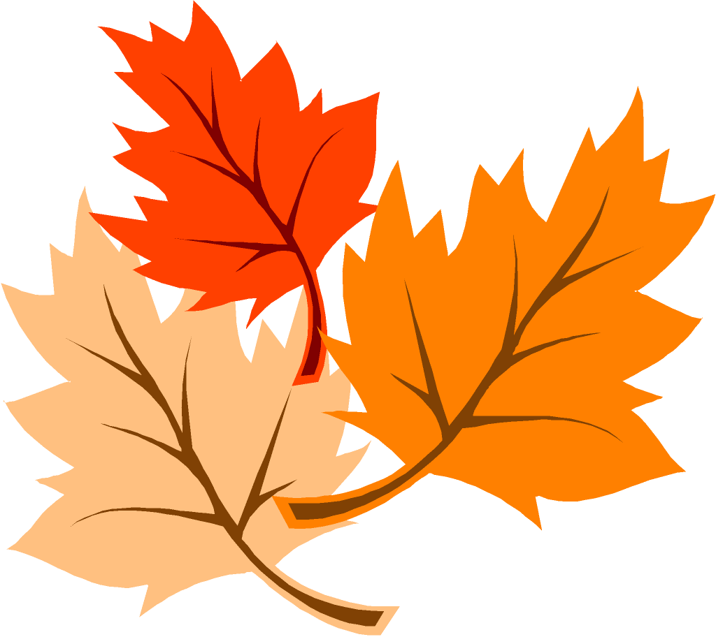 November leaves clip art image