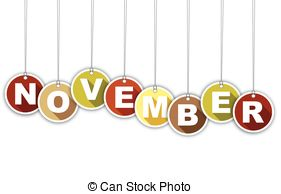 November month clip art clipartxtras