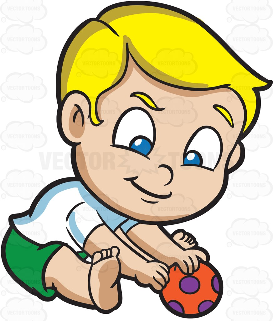 baby playing A baby boy playing with ball at tornado cartoon clipart jpg