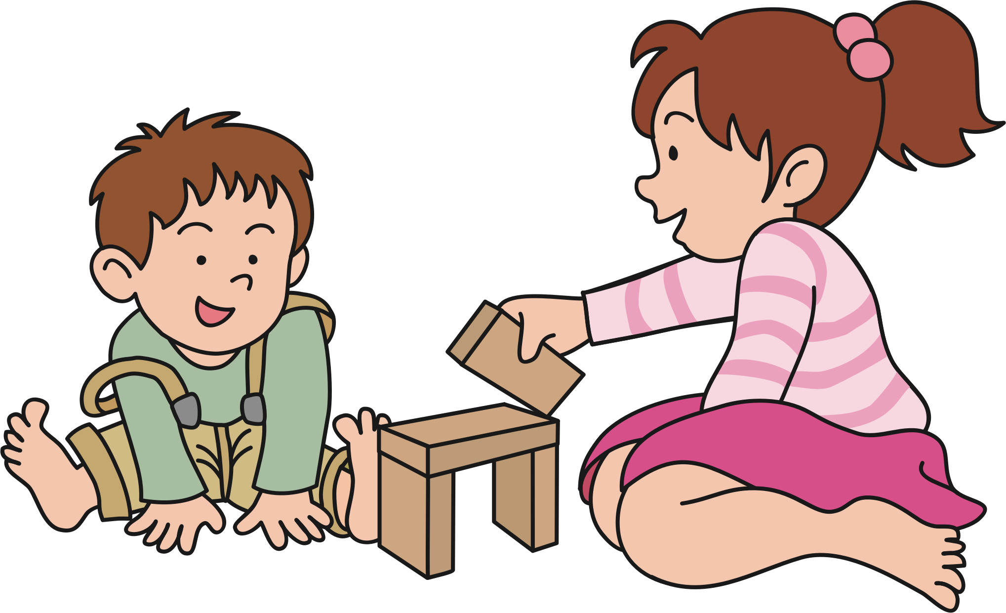 baby playing Clipart children playing png