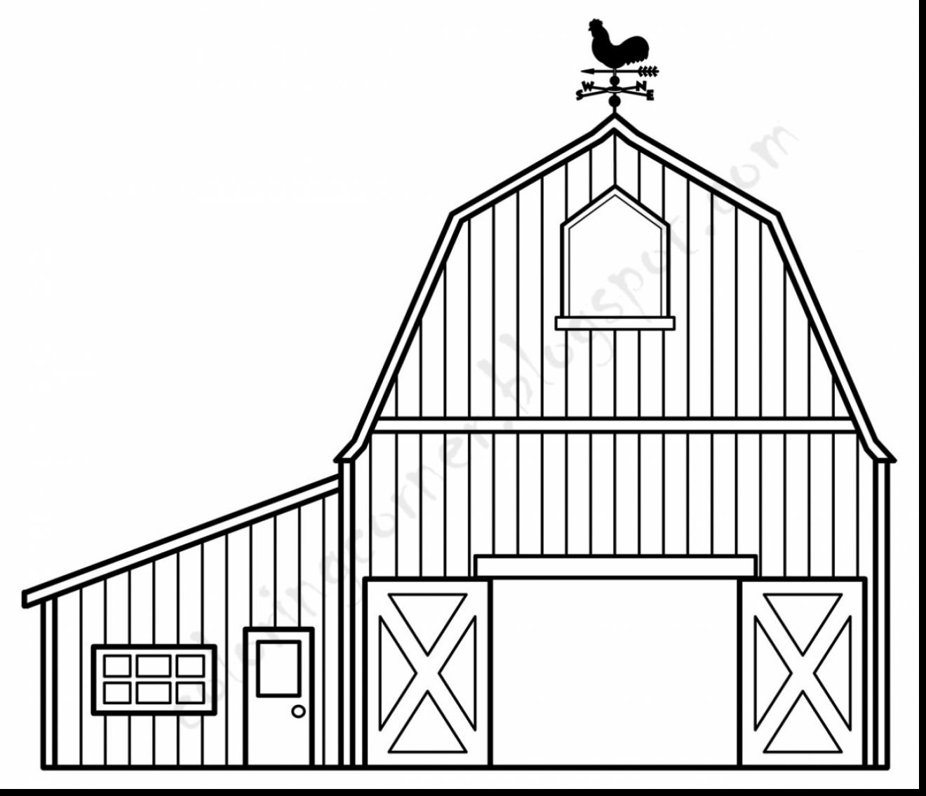 barn outline Barn coloring pages free jpg