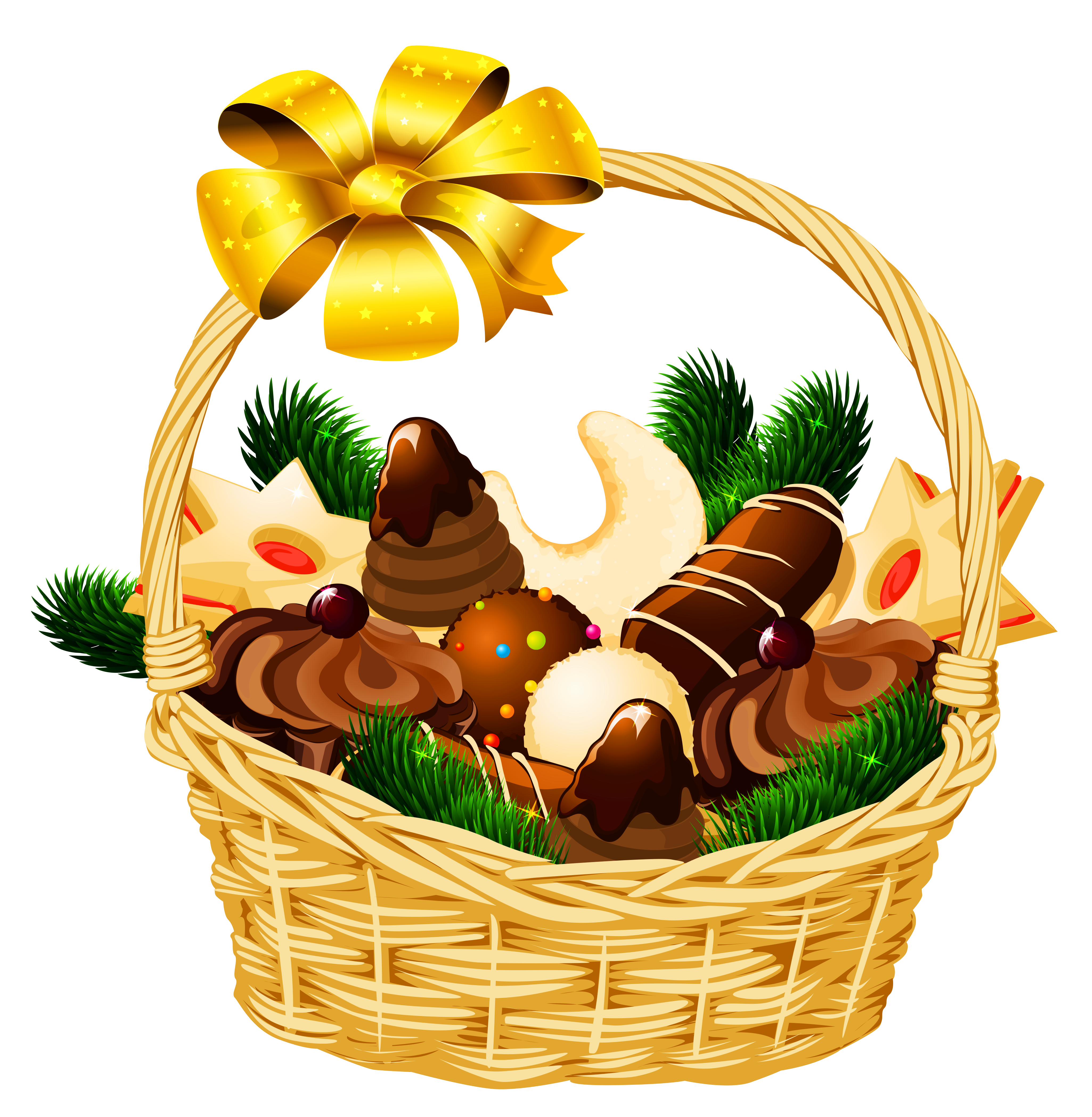 basket raffle Basket clipart christmas hamper pencil and in color basket png