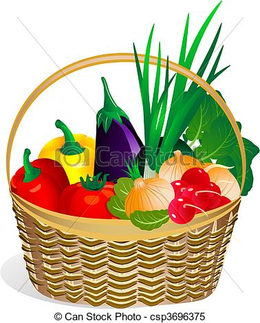 basket raffle Of produce clipart jpg